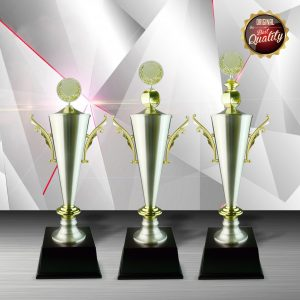 Gold colored White Silver Trophies CTEXWS6072 – Exclusive Gold White Silver Trophy