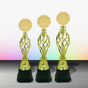 Gold colored White Silver Trophies CTEXWS6073 – Exclusive Gold White Silver Trophy