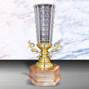 Silver Crystal Vase Trophies CTEXWS6127 – Exclusive White Silver Crystal Vase Trophy