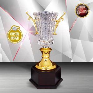 Silver Crystal Vase Trophies CTEXWS6132 – Exclusive White Silver Crystal Vase Trophy