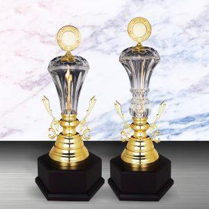 Silver Crystal Vase Trophies CTEXWS6142 – Exclusive Gold Silver Crystal Vase Trophy