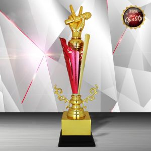 Singing Competition Silver Trophies CTEXWS6169 – Exclusive White Silver Microphone Trophy