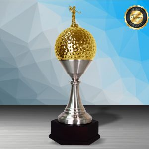 Golf Tournament Silver Trophies CTEXWS6205 – Exclusive Gold Silver Golf Trophy