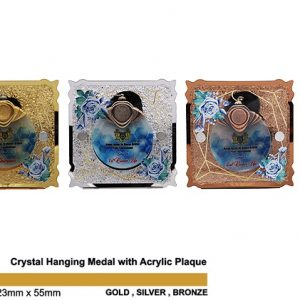 Crystal Medal Acrylic Plaques CTSP5034 – Crystal Hanging Medal with Acrylic Plaque