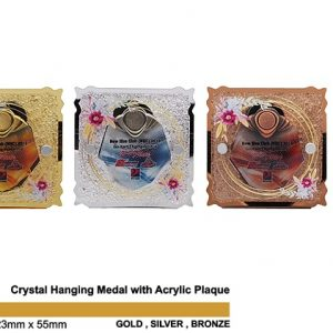 Crystal Medal Acrylic Plaques CTSP5035 – Crystal Hanging Medal with Acrylic Plaque