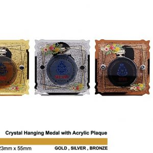 Crystal Medal Acrylic Plaques CTSP5036 – Crystal Hanging Medal with Acrylic Plaque