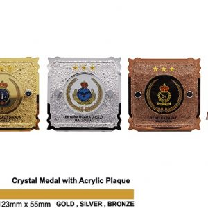 Crystal Medal Acrylic Plaques CTSP5037 – Crystal Hanging Medal with Acrylic Plaque