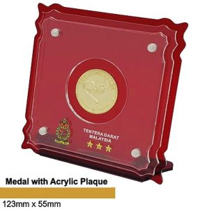 Crystal Medal Acrylic Plaques CTSP5039 – Crystal Hanging Medal with Acrylic Plaque
