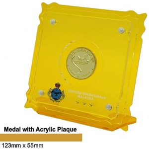 Medal Acrylic Plaques CTSP5040 – Medal with Acrylic Plaque