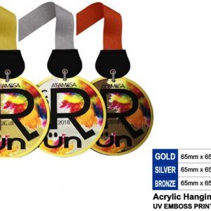 Round Acrylic Medals CTSP5044 – Acrylic Hanging Medal