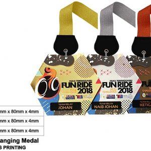 Hexagonal Acrylic Medals CTSP5045 – Acrylic Hanging Medal