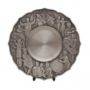 Traditional Pewter Series CTWP7227 – Cultural Dance Pewter Plate