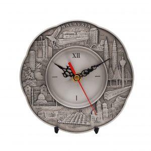 Pewter Clock Series CTWP7230 – Malaysia Landmark Pewter Clock Plate